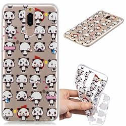 Mini Panda Clear Varnish Soft Phone Back Cover for Huawei Mate 10 Lite / Nova 2i / Horor 9i / G10