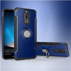 Armor Anti Drop Carbon PC + Silicon Invisible Ring Holder Phone Case for Huawei Mate 10 Lite / Nova 2i / Horor 9i / G10 - Sapphire