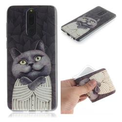 Cat Embrace IMD Soft TPU Cell Phone Back Cover for Huawei Mate 10 Lite / Nova 2i / Horor 9i / G10