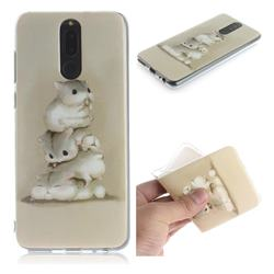Three Squirrels IMD Soft TPU Cell Phone Back Cover for Huawei Mate 10 Lite / Nova 2i / Horor 9i / G10