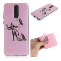 Butterfly High Heels IMD Soft TPU Cell Phone Back Cover for Huawei Mate 10 Lite / Nova 2i / Horor 9i / G10