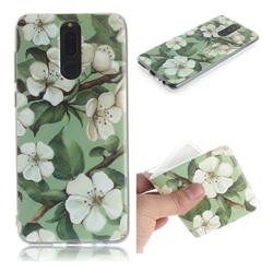 Watercolor Flower IMD Soft TPU Cell Phone Back Cover for Huawei Mate 10 Lite / Nova 2i / Horor 9i / G10
