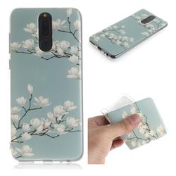 Magnolia Flower IMD Soft TPU Cell Phone Back Cover for Huawei Mate 10 Lite / Nova 2i / Horor 9i / G10