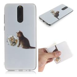Cat and Tiger IMD Soft TPU Cell Phone Back Cover for Huawei Mate 10 Lite / Nova 2i / Horor 9i / G10