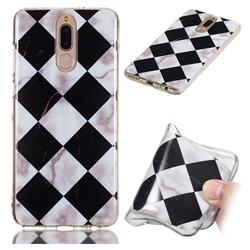 Black and White Matching Soft TPU Marble Pattern Phone Case for Huawei Mate 10 Lite / Nova 2i / Horor 9i / G10