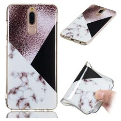Black white Grey Soft TPU Marble Pattern Phone Case for Huawei Mate 10 Lite / Nova 2i / Horor 9i / G10