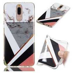 Pinstripe Soft TPU Marble Pattern Phone Case for Huawei Mate 10 Lite / Nova 2i / Horor 9i / G10