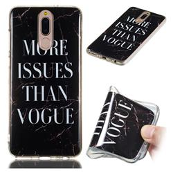 Stylish Black Soft TPU Marble Pattern Phone Case for Huawei Mate 10 Lite / Nova 2i / Horor 9i / G10