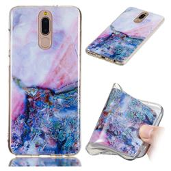 Purple Amber Soft TPU Marble Pattern Phone Case for Huawei Mate 10 Lite / Nova 2i / Horor 9i / G10