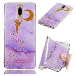 Elf Purple Soft TPU Marble Pattern Phone Case for Huawei Mate 10 Lite / Nova 2i / Horor 9i / G10
