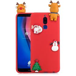 Red Elk Christmas Xmax Soft 3D Silicone Case for Huawei Mate 10 Lite / Nova 2i / Horor 9i / G10