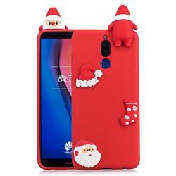 Red Santa Claus Christmas Xmax Soft 3D Silicone Case for Huawei Mate 10 Lite / Nova 2i / Horor 9i / G10