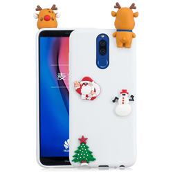 White Elk Christmas Xmax Soft 3D Silicone Case for Huawei Mate 10 Lite / Nova 2i / Horor 9i / G10