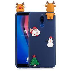 Navy Elk Christmas Xmax Soft 3D Silicone Case for Huawei Mate 10 Lite / Nova 2i / Horor 9i / G10