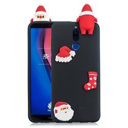 Black Santa Claus Christmas Xmax Soft 3D Silicone Case for Huawei Mate 10 Lite / Nova 2i / Horor 9i / G10