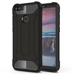King Kong Armor Premium Shockproof Dual Layer Rugged Hard Cover for Huawei Mate 10 Lite / Nova 2i / Horor 9i / G10 - Black Gold