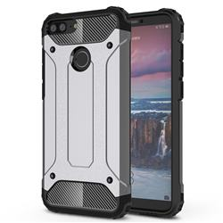 King Kong Armor Premium Shockproof Dual Layer Rugged Hard Cover for Huawei Mate 10 Lite / Nova 2i / Horor 9i / G10 - Silver Grey