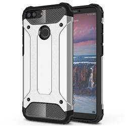 King Kong Armor Premium Shockproof Dual Layer Rugged Hard Cover for Huawei Mate 10 Lite / Nova 2i / Horor 9i / G10 - Technology Silver