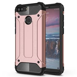 King Kong Armor Premium Shockproof Dual Layer Rugged Hard Cover for Huawei Mate 10 Lite / Nova 2i / Horor 9i / G10 - Rose Gold