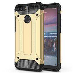 King Kong Armor Premium Shockproof Dual Layer Rugged Hard Cover for Huawei Mate 10 Lite / Nova 2i / Horor 9i / G10 - Champagne Gold