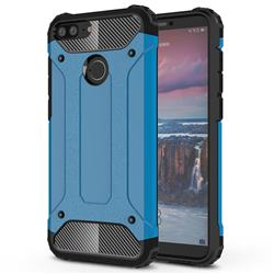 King Kong Armor Premium Shockproof Dual Layer Rugged Hard Cover for Huawei Mate 10 Lite / Nova 2i / Horor 9i / G10 - Sky Blue