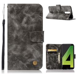 Luxury Retro Leather Wallet Case for Huawei Mate 10 Lite / Nova 2i / Horor 9i / G10 - Gray