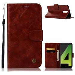 Luxury Retro Leather Wallet Case for Huawei Mate 10 Lite / Nova 2i / Horor 9i / G10 - Wine Red