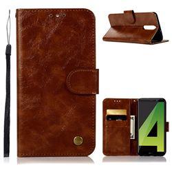 Luxury Retro Leather Wallet Case for Huawei Mate 10 Lite / Nova 2i / Horor 9i / G10 - Brown