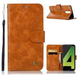 Luxury Retro Leather Wallet Case for Huawei Mate 10 Lite / Nova 2i / Horor 9i / G10 - Golden