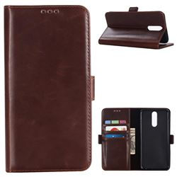 Luxury Crazy Horse PU Leather Wallet Case for Huawei Mate 10 Lite / Nova 2i / Horor 9i / G10 - Coffee