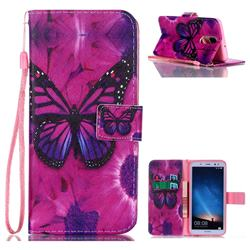 Black Butterfly Leather Wallet Phone Case for Huawei Mate 10 Lite / Nova 2i / Horor 9i / G10