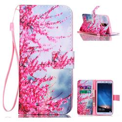 Plum Flower Leather Wallet Phone Case for Huawei Mate 10 Lite / Nova 2i / Horor 9i / G10