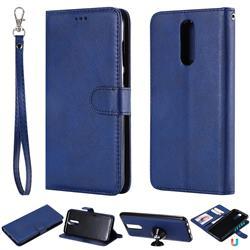 Retro Greek Detachable Magnetic PU Leather Wallet Phone Case for Huawei Mate 10 Lite / Nova 2i / Horor 9i / G10 - Blue