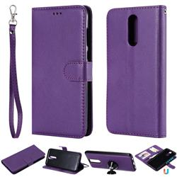 Retro Greek Detachable Magnetic PU Leather Wallet Phone Case for Huawei Mate 10 Lite / Nova 2i / Horor 9i / G10 - Purple