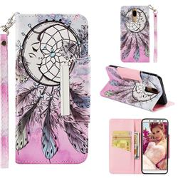 Angel Monternet Big Metal Buckle PU Leather Wallet Phone Case for Huawei Mate 10 Lite / Nova 2i / Horor 9i / G10
