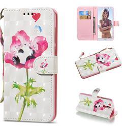 Flower Panda 3D Painted Leather Wallet Phone Case for Huawei Mate 10 Lite / Nova 2i / Horor 9i / G10