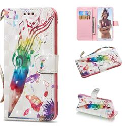 Music Pen 3D Painted Leather Wallet Phone Case for Huawei Mate 10 Lite / Nova 2i / Horor 9i / G10