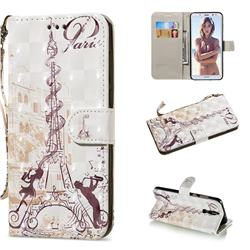Tower Couple 3D Painted Leather Wallet Phone Case for Huawei Mate 10 Lite / Nova 2i / Horor 9i / G10