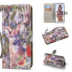 Elk Deer 3D Painted Leather Wallet Phone Case for Huawei Mate 10 Lite / Nova 2i / Horor 9i / G10