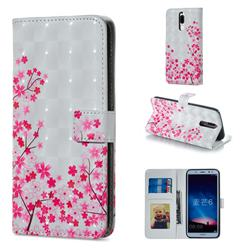 Cherry Blossom 3D Painted Leather Phone Wallet Case for Huawei Mate 10 Lite / Nova 2i / Horor 9i / G10