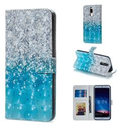 Sea Sand 3D Painted Leather Phone Wallet Case for Huawei Mate 10 Lite / Nova 2i / Horor 9i / G10