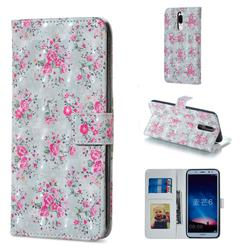 Roses Flower 3D Painted Leather Phone Wallet Case for Huawei Mate 10 Lite / Nova 2i / Horor 9i / G10