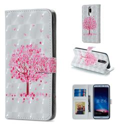 Sakura Flower Tree 3D Painted Leather Phone Wallet Case for Huawei Mate 10 Lite / Nova 2i / Horor 9i / G10