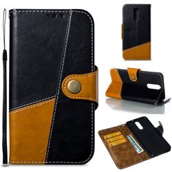 Retro Magnetic Stitching Wallet Flip Cover for Huawei Mate 10 Lite / Nova 2i / Horor 9i / G10 - Black