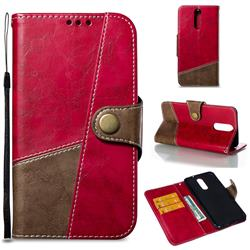 Retro Magnetic Stitching Wallet Flip Cover for Huawei Mate 10 Lite / Nova 2i / Horor 9i / G10 - Rose Red