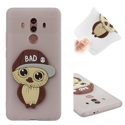 Bad Boy Owl Soft 3D Silicone Case for Huawei Mate 10 Pro(6.0 inch) - Translucent White