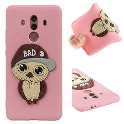 Bad Boy Owl Soft 3D Silicone Case for Huawei Mate 10 Pro(6.0 inch) - Pink