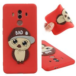 Bad Boy Owl Soft 3D Silicone Case for Huawei Mate 10 Pro(6.0 inch) - Red