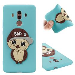 Bad Boy Owl Soft 3D Silicone Case for Huawei Mate 10 Pro(6.0 inch) - Sky Blue