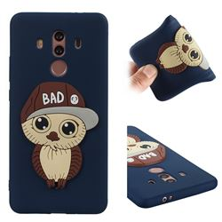 Bad Boy Owl Soft 3D Silicone Case for Huawei Mate 10 Pro(6.0 inch) - Navy
